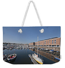 Weekender Tote Bag featuring the photograph Milford Haven Marina 3 by Steve Purnell