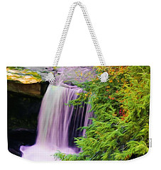 Mill Creek Waterfall Weekender Tote Bag by Michelle Joseph-Long