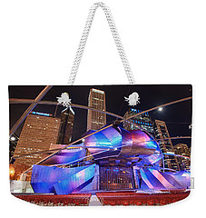 Weekender Tote Bag featuring the photograph Millennium Park by Sebastian Musial