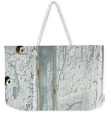 Minimalism With Two Bolts Weekender Tote Bag by Lenore Senior