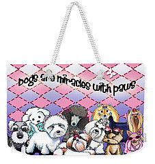 Miracles With Paws Weekender Tote Bag