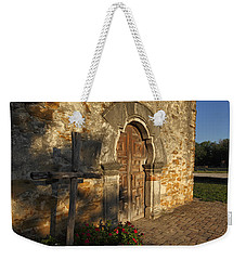 Weekender Tote Bag featuring the photograph Mission Espada by Susan Rovira