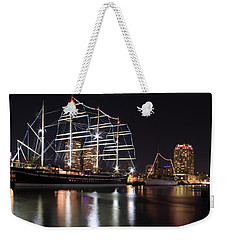 Weekender Tote Bag featuring the photograph Missoula At Nighttime by Alice Gipson