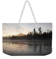 Mist Over The Mississippi Weekender Tote Bag by Kent Lorentzen