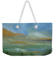 Weekender Tote Bag featuring the painting Misty Morning by Judith Rhue