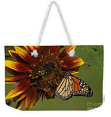 Monarch And The Bee Weekender Tote Bag