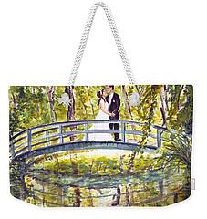 Weekender Tote Bag featuring the painting Monet Wedding by Clara Sue Beym