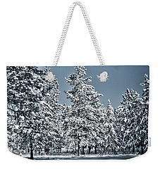 Weekender Tote Bag featuring the photograph Montana Christmas by Janie Johnson