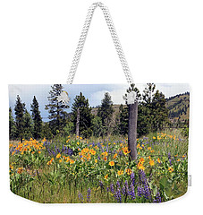 Weekender Tote Bag featuring the photograph Montana Wildflowers by Athena Mckinzie