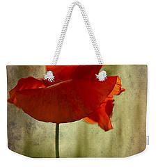 Moody Poppy. Weekender Tote Bag