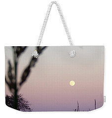 Weekender Tote Bag featuring the photograph Moon by Andrea Anderegg