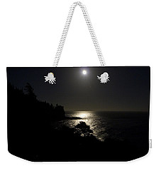 Weekender Tote Bag featuring the photograph Moon Over Dor by Brent L Ander