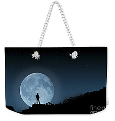 Weekender Tote Bag featuring the photograph Moonlit Solitude by Steve Purnell