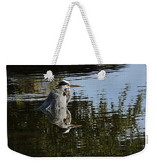 Weekender Tote Bag featuring the photograph Morning Bath by Steven Sparks