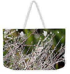 Weekender Tote Bag featuring the photograph Morning Dew by Lauren Radke