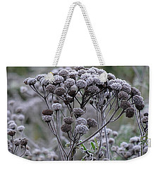 Weekender Tote Bag featuring the photograph Morning Frost by Tiffany Erdman