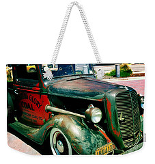 Weekender Tote Bag featuring the photograph Morning Glory Coal Truck by Nina Prommer