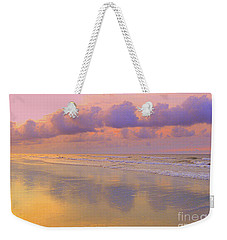 Weekender Tote Bag featuring the photograph Morning On The Beach  by Lydia Holly