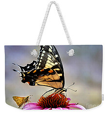 Weekender Tote Bag featuring the photograph Morning Snack by Nava Thompson