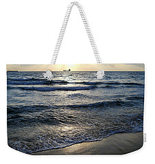Weekender Tote Bag featuring the photograph Morning Surf by Clara Sue Beym