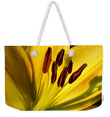Morning Yellow Weekender Tote Bag