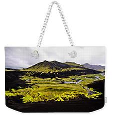 Moss In Iceland Weekender Tote Bag