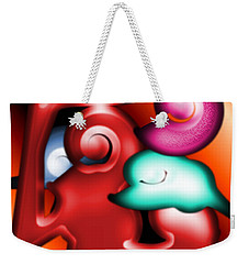 Weekender Tote Bag featuring the digital art Mother And Child by George Pedro