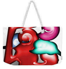 Weekender Tote Bag featuring the digital art Mother And Child In The Daylight by George Pedro