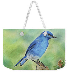 Mountain Bluebird Weekender Tote Bag
