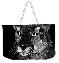 Weekender Tote Bag featuring the mixed media Mountain Lion by Kume Bryant