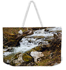 Weekender Tote Bag featuring the photograph Mountain Stream by Les Palenik