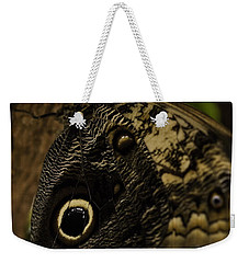 Mournful Owl Butterfly Weekender Tote Bag