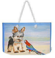 Mouthy Parrot Weekender Tote Bag