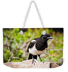 Mr. Magpie Weekender Tote Bag by Cheryl Baxter