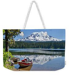 Mt Adams At The Lake Weekender Tote Bag