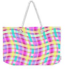 Multi Check Weekender Tote Bag