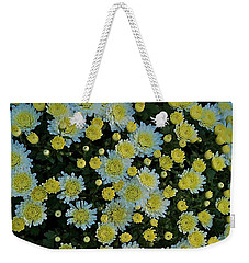 Weekender Tote Bag featuring the photograph Mums by Joseph Yarbrough