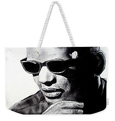 Music Legend Ray Charles Weekender Tote Bag by Jim Fitzpatrick