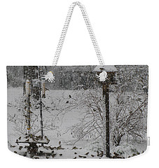 Weekender Tote Bag featuring the photograph My Backyard by Donna Brown