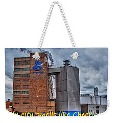 My City Smells Like Cheerios Weekender Tote Bag by Guy Whiteley