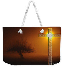 Weekender Tote Bag featuring the photograph My Life In God's Hands 3 To 4 Ration by Clayton Bruster