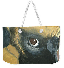 Weekender Tote Bag featuring the painting My Name Is Attitude by Norm Starks