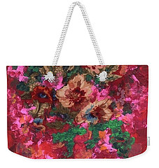 Weekender Tote Bag featuring the painting My Sister's Garden I by Alys Caviness-Gober