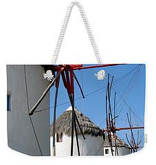 Mykonos Windmills Weekender Tote Bag by Carla Parris