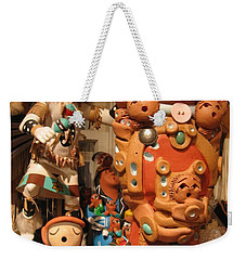 Weekender Tote Bag featuring the photograph Native  American Folk Art by Dora Sofia Caputo Photographic Art and Design