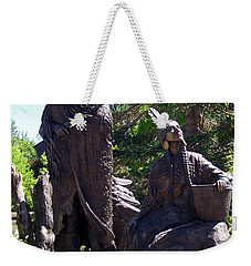 Native American Statue Weekender Tote Bag by Chalet Roome-Rigdon