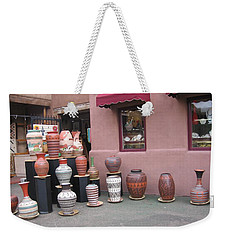 Weekender Tote Bag featuring the photograph Native Jars And Vases Market by Dora Sofia Caputo Photographic Art and Design