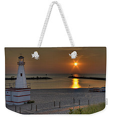 New Buffalo City Beach Sunset Weekender Tote Bag
