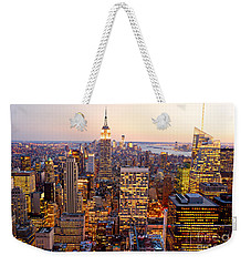 Weekender Tote Bag featuring the photograph New York City by Luciano Mortula