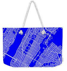 New York City Map Streets Art Print   Weekender Tote Bag